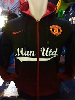 enkosa sport toko online baju bola terpercaya Jaket Hoodie Manchester united merah hitam terbaru musim 2015