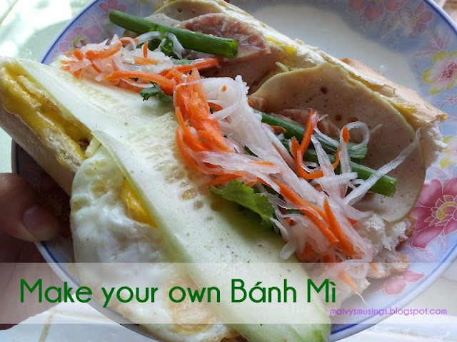 Maivy's Musings- How to make Banh Mi (Vietnamese Sandwiches)