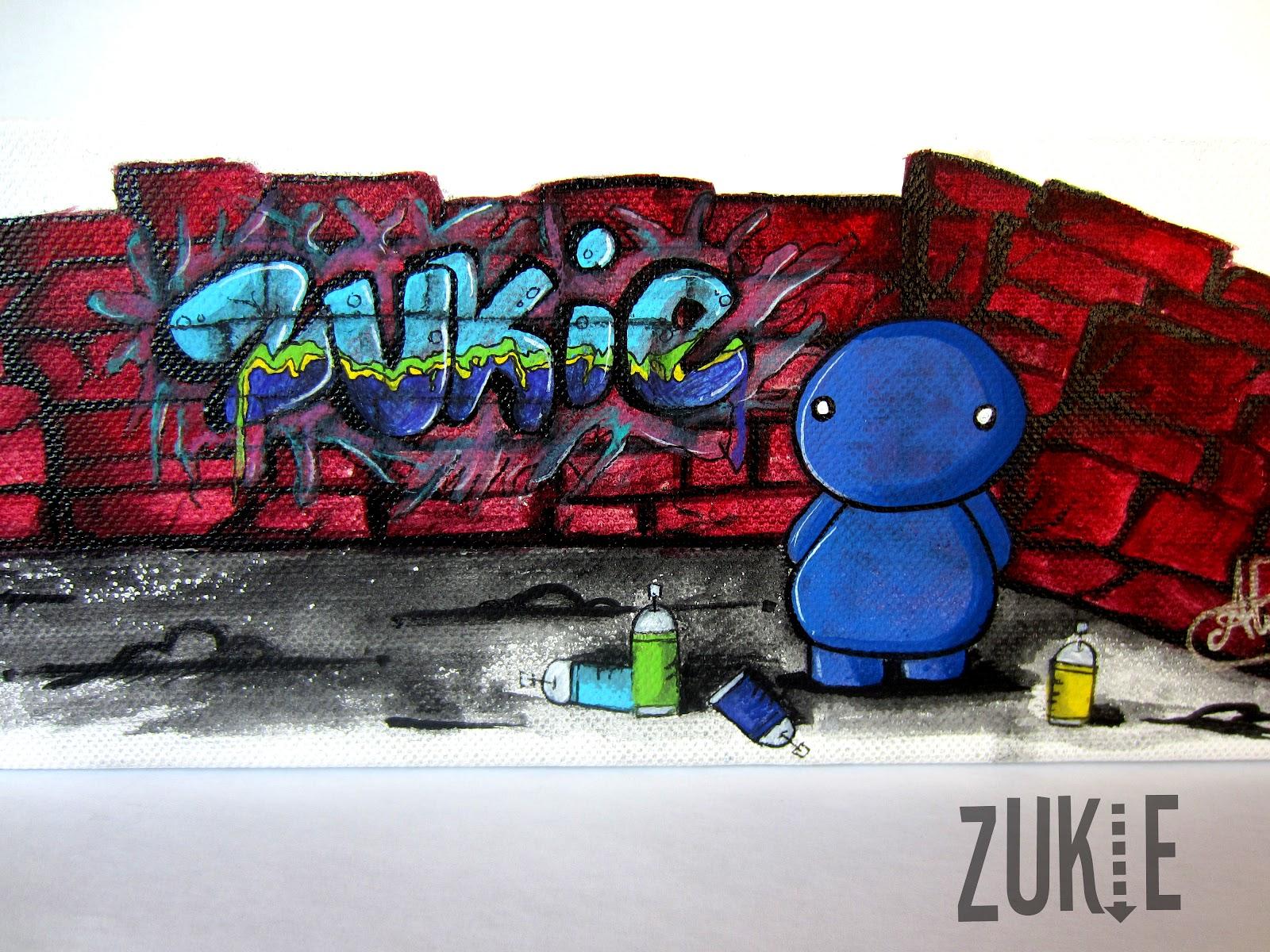 Zukie ART: The Frist Zukie Tagger on Canvas!!!