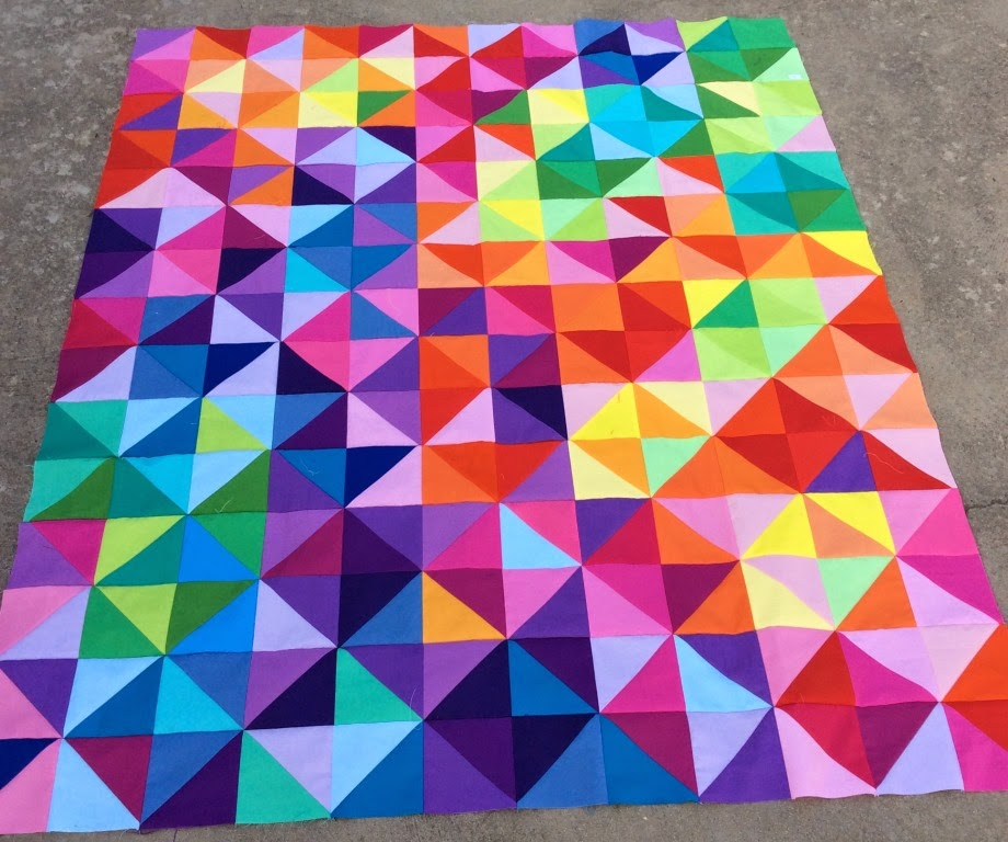 Postcard from Sweden a half square triangle quilt