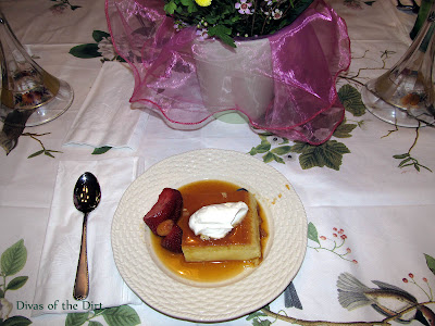 DivasoftheDirt,Buffy's Flan on plate