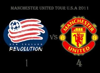 manchester united vs new england revolution,keputusan manchester united pre sesaon us tour 2011,ashley young debut,ashley young manchester united game,macheda goals