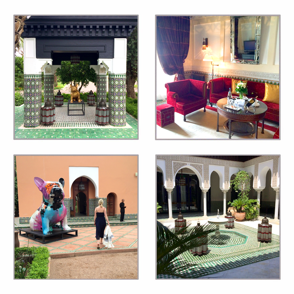 Zellige Colone : Travel write draw postcard from la mamounia marrakech