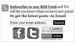 Kotak Berlangganan FeedBurner,feedburner,feed burner,kotak berlangganan via Email,Email Subscription Box,Feedburner Subscription Box