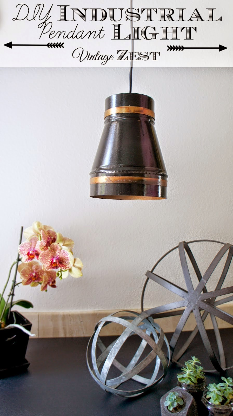 Industrial pendant light with led
