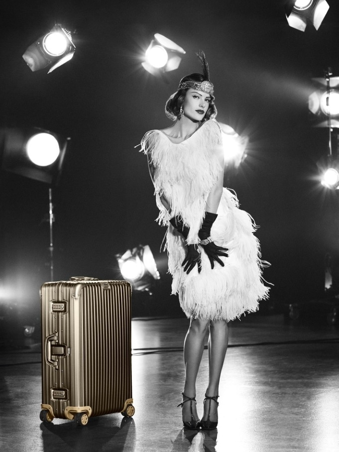 Alessandra Ambrosio is retro chic for the Rimowa Luggage Summer Lookbook 2015