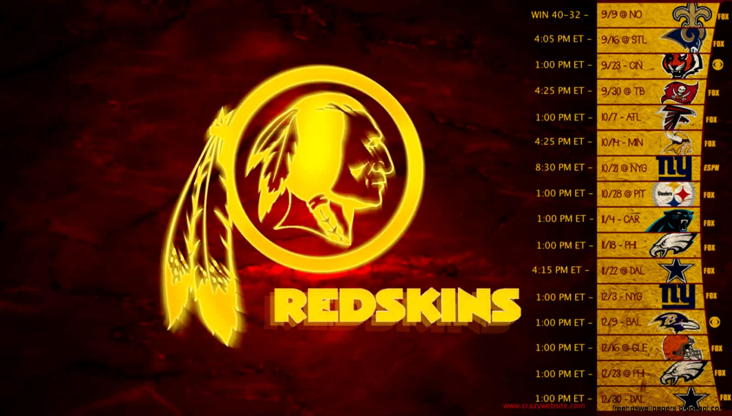 Collection Washington Redskins Wallpaper 1 3