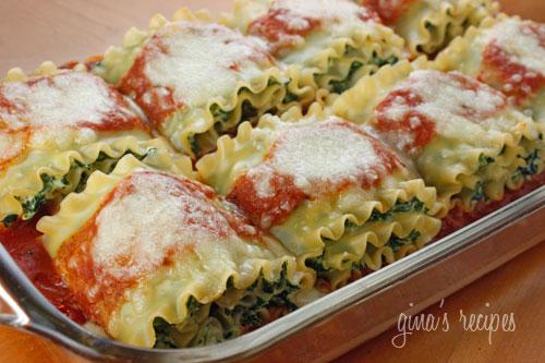 Spinach Lasagna Rolls!!!