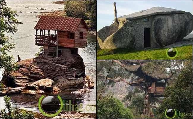 10 Rumah Unik dan Indah yang Terbuat dari Alam