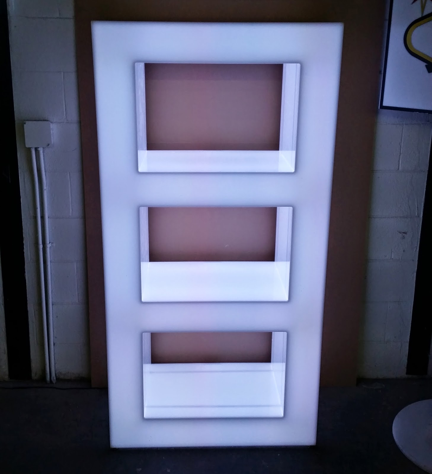 light up shelving unit