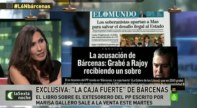 """Marisa Gallero: """"Bárcenas grabó a Rajoy recibiendo un sobre y triturando la Caja B"""""""