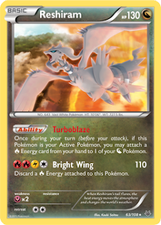 Reshiram Roaring Skies Pokemon Card