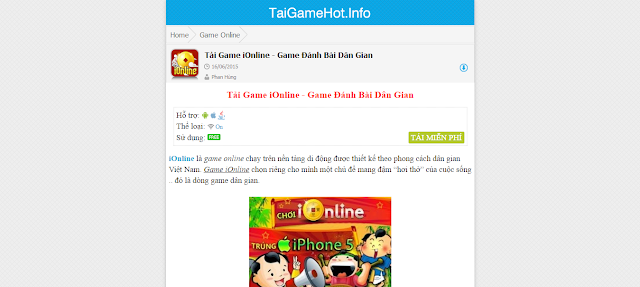 Template Blogger Wap Game, Template Blogspot Mobile