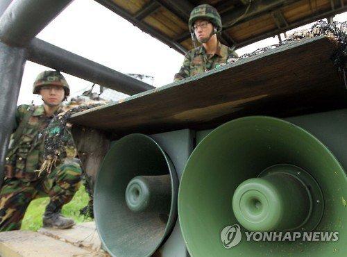 K-Pop being played on loudspeakers to North Korea