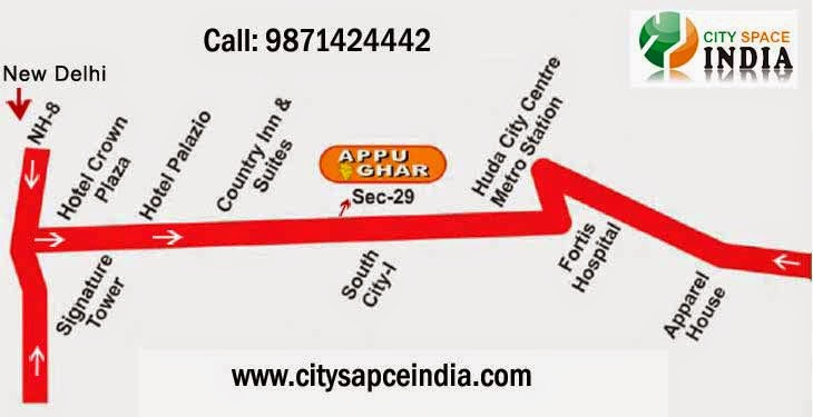 appu ghar gurgaon location map