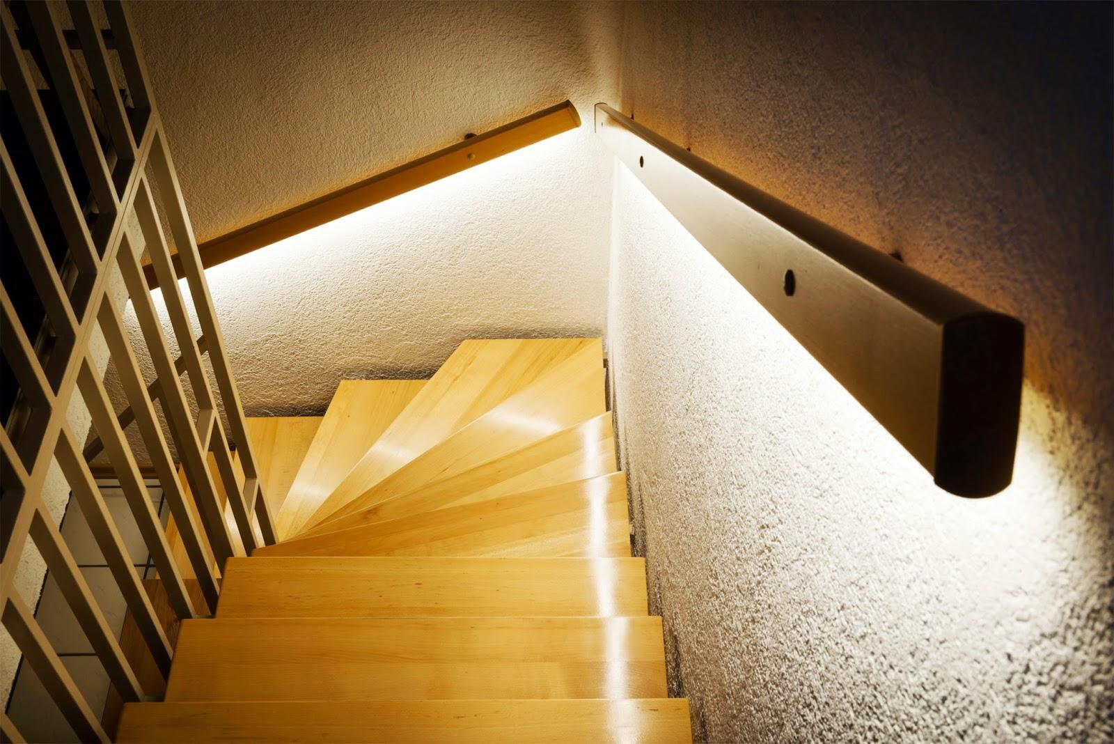 Лестница с подсветкой ступеней своими руками