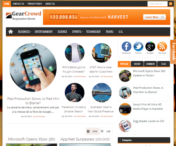 Gearcrowd Responsive Blogger Template
