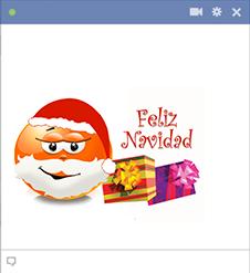 Feliz Navidad Emoticone Para Facebook