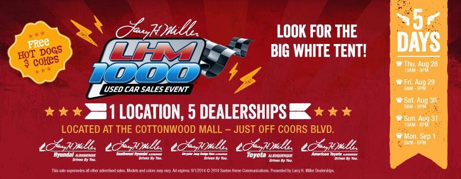 #LHM1000 Used Car Sales Event | Larry H Miller Southwest Hyundai Albuquerque