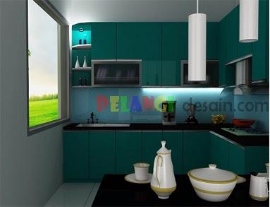 Kitchenset Pelangi Desain Interior Kitchen Set Hijau Tua