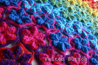 Star Fruit Blanket and Rug Crochet Pattern by Susan Carlson of Felted Button