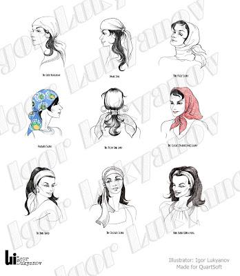disegni di moda, sciarpe foulard per le donne