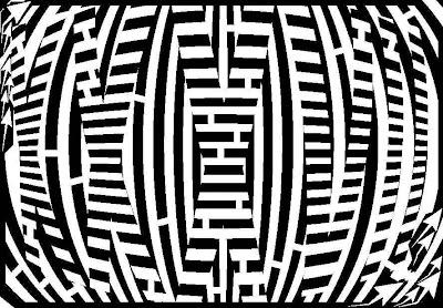 black and white prime number maze of 37