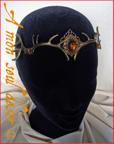 Couronne Diadème Tiare Bois de Cerf Baratheon crown deer circlet antler Artemis