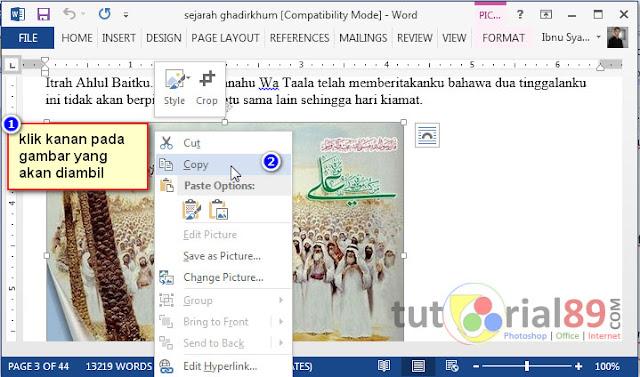 Cara mengambil gambar dari Microsoft word