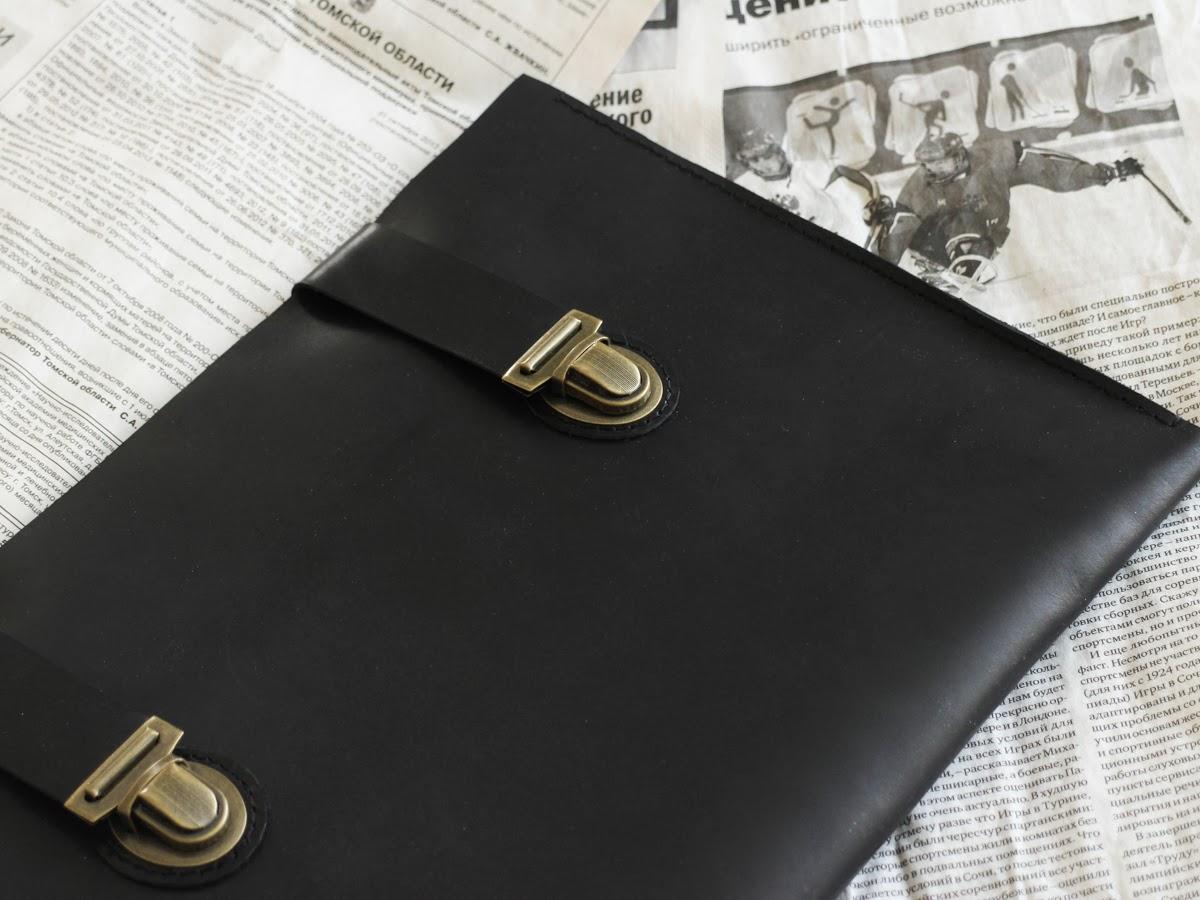 Папка-чехол под ноутбук из натуральной итальянской кожи