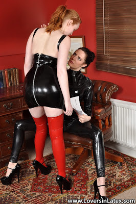 Delicious Lovers in Latex Kloe Kane and Sam Bentley