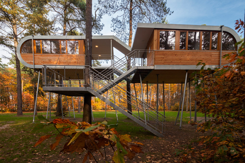 Tree House, paper producer Sappi, The Flemish Forest and Nature Agency, the commune of Hechtel-Eksel, Proximity BBDO, Sustainability, Baumraum Architects, environment-friendly , Hechtel-Eksel