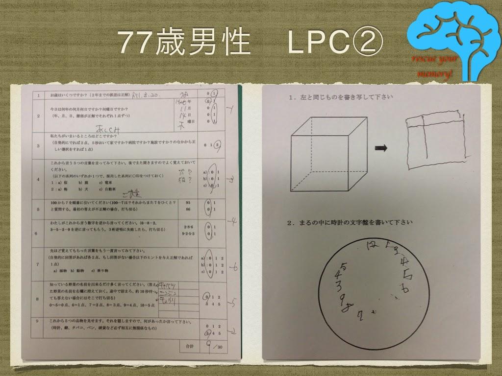 LPC レビー・ピック複合 長谷川式と時計描画