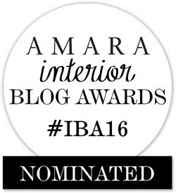 Blog nominated by Amara Interior Blog Awards 2016