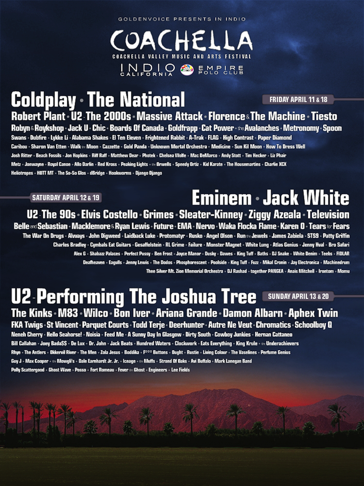 Coachella 2015 Music Festival Lineup Announced! | 99.1 KGGI