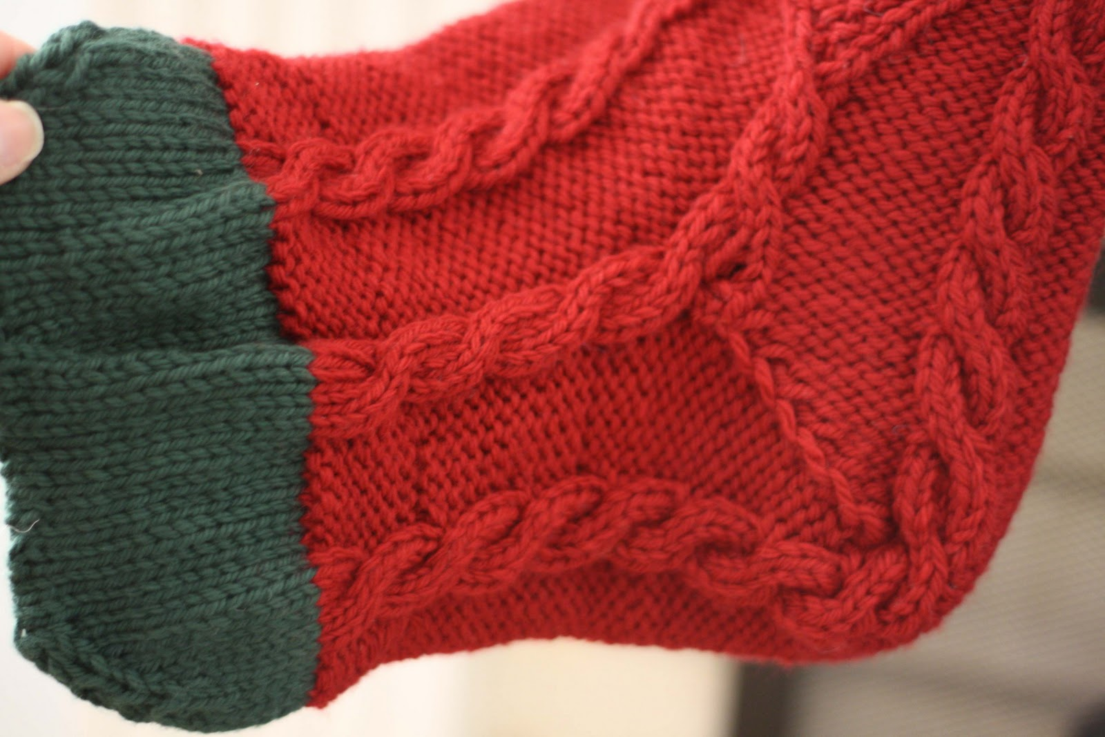 Knitted Christmas Stockings - Melly Sews