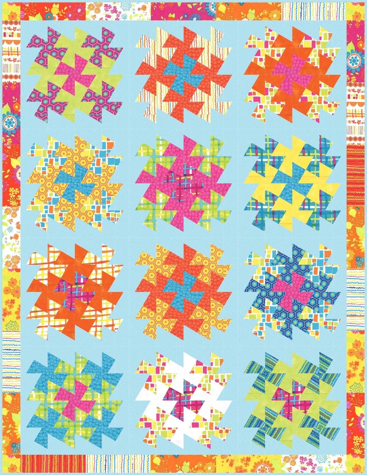Lil Twister Â« modafabrics : twister quilt patterns - Adamdwight.com
