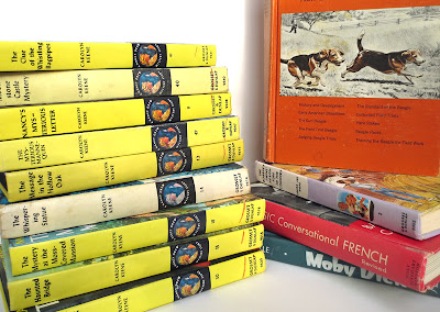 Stack of used Nancy Drew books