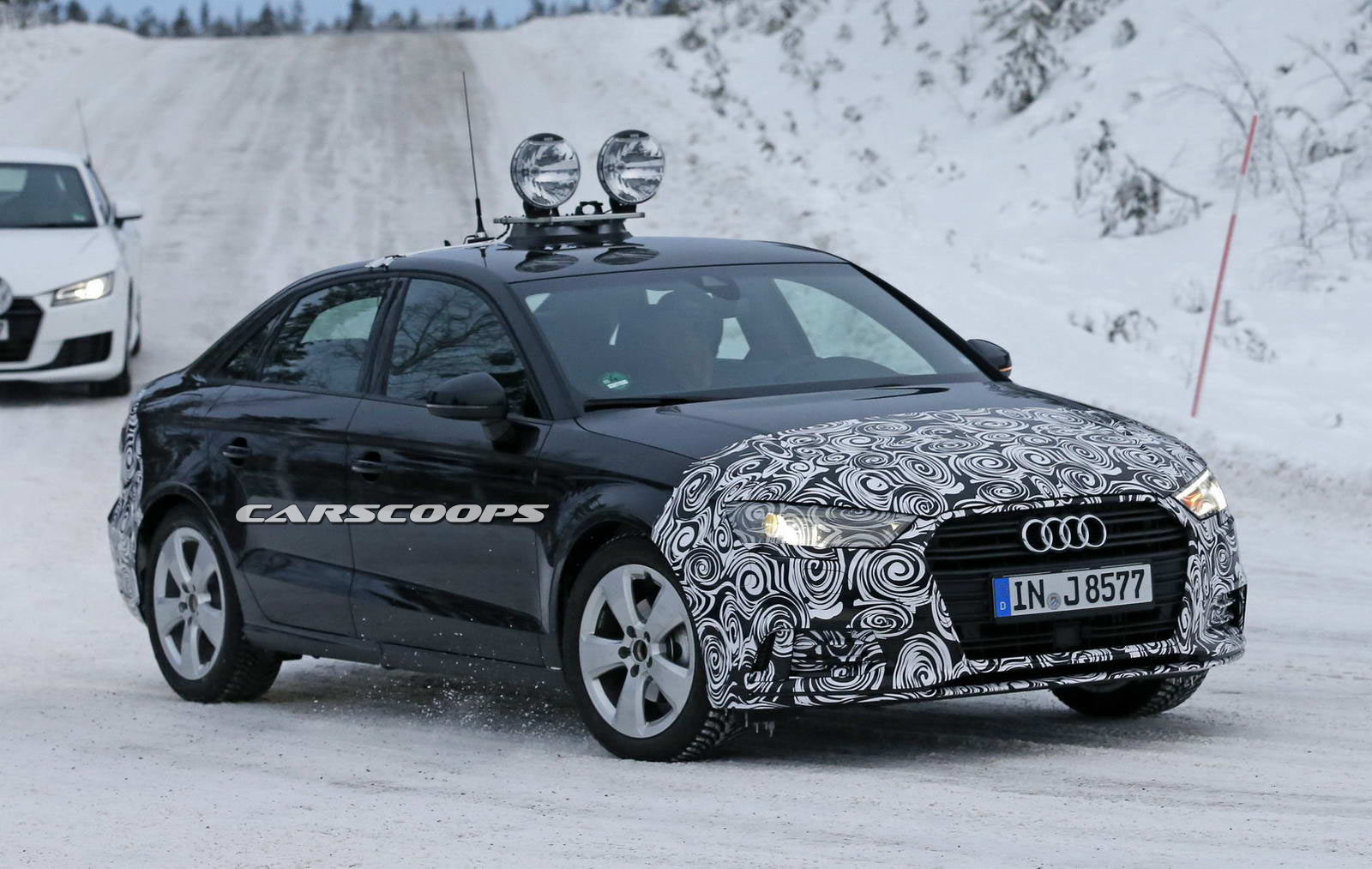facelifted 2017 audi a3 sedan spied. Black Bedroom Furniture Sets. Home Design Ideas