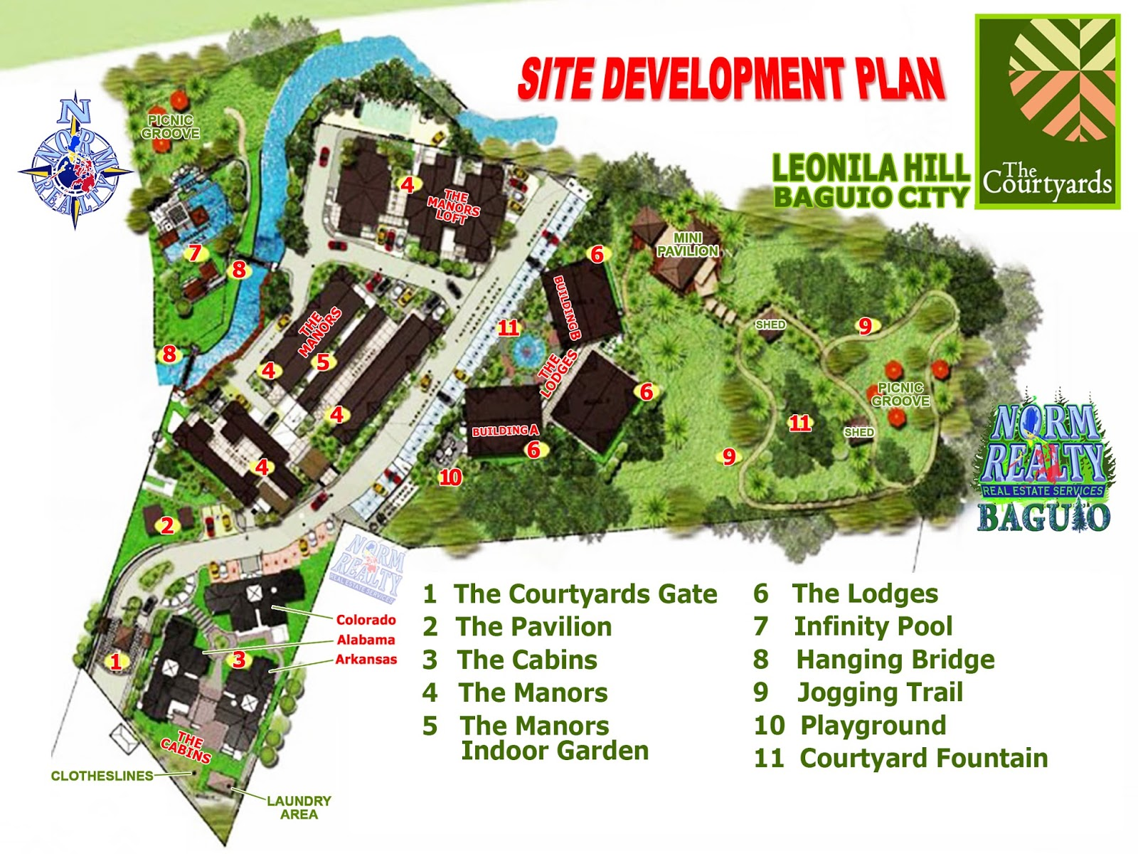 Baguio properties by ashley normrealty the first master planned garden community in baguio for Baguio country club swimming pool