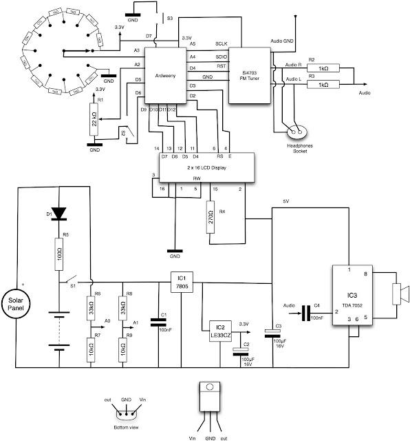 dr  monk u0026 39 s diy electronics blog  arduino solar radio