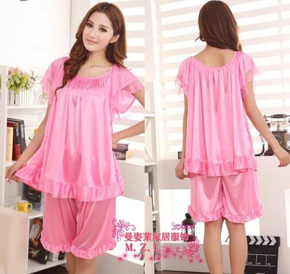 Baju Tidur Setelan SL1121 Med Pink