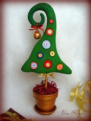 deshilachado - Arbol De Navidad De Tela