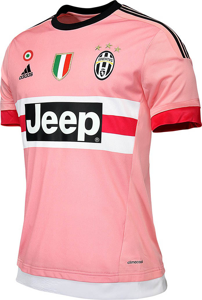 the inaugural adidas juventus home kit boasts a no nonsense look while the juventus 2015 16 away kit is pink to honor the very first kits of the club - Pink Home 2015