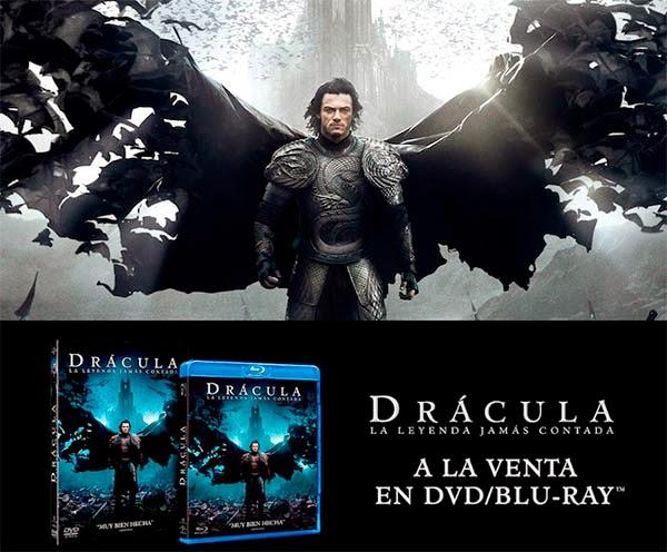 """""""Drácula: La Leyenda Jamás Contada"""" DVD/BLU-RAY a la venta el 27 de Marzo"""
