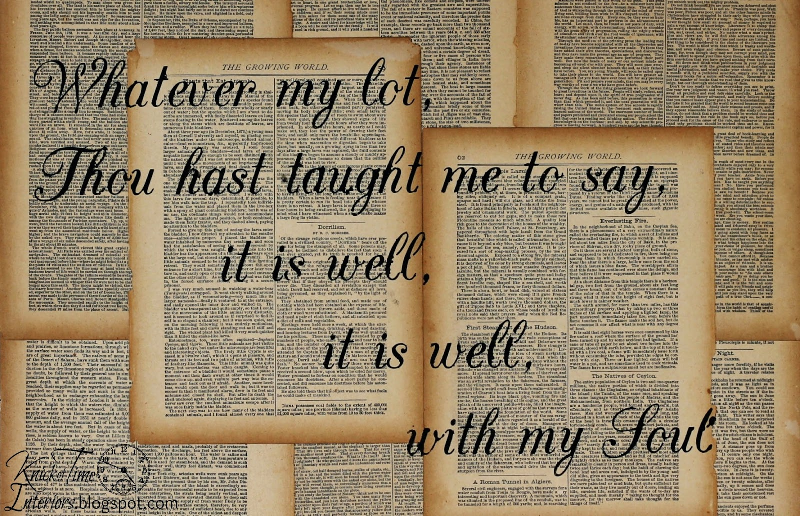 Repurposed Book Page Canvas Hymn Art Knick Of Time