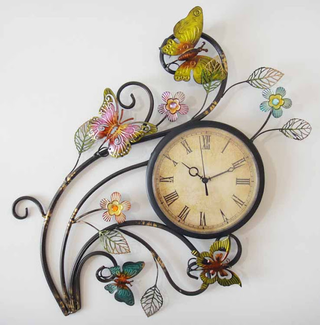 Metallic Wall Clock Dream Interior Decor