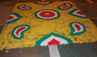 Rangoli designed on Diwali Day