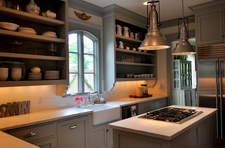 Vignette Design Kitchen Cabinets Vs Open Shelves And The Art Of Display