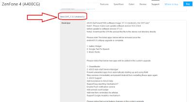 asang Android Lollipop 5.0  Pada Asus Zenfone 4